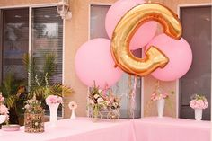 Elegant Royal Pink and Gold Gilded Bird Cage Baby Shower