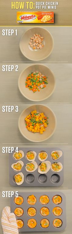 These mini, creamy, rich, flaky wonders of pure joy made with the delicious goodness of VELVEETA are also known as Chicken Pot Pie Minis. Get the full Liquid Gold recipe and more at http://www.kraftrecipes.com/velveeta.aspx