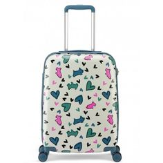 The Love Me, Love My Dog cabin size hard shell suitcase is the perfect carry-on companion that adds a playful twist to your style.