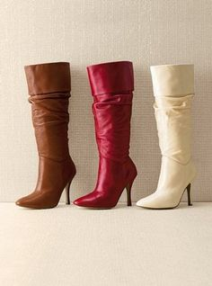 ShopStyle: Colin Stuart® Scrunch leather boot