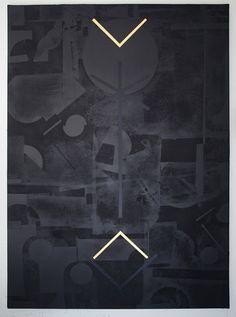 Panos Tsagaris | Untitled | 2016 | gold leaf, acrylic, spray paint and silkscreen on canvas | 180 x 130 cm | Courtesy MLF Marie-Laure Fleisch (Rome - Brussels) & Kalfayan Galleries (Athens – Thessaloniki)