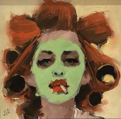Pretty Art, Cute Art, Arte Sketchbook, Funky Art, Psychedelic Art, Art Portfolio, Art Drawings Sketches, Portrait Art, Portrait Acrylic