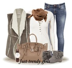 """CASUAL OUTFIT"" by justtrendygirls ❤ liked on Polyvore featuring Nudie Jeans Co., Free People, Dylan, Ralph Lauren, Bruuns Bazaar and Daniel Wellington"