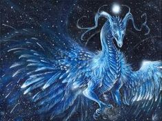 Twinkling Ice Dragon by Isvoc