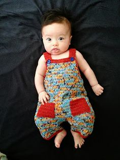 *Free Crochet Pattern:  .Linda's Crafty Corner: Crochet Dungaree Pattern