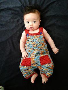 Free Crochet Pattern: .Linda's Crafty Corner: Crochet Dungaree Pattern