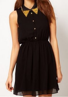 To find out about the Black Sleeveless Beading Embellished Dress at SHEIN, part of our latest Dresses ready to shop online today! Only Fashion, Love Fashion, Fashion Looks, Womens Fashion, Chiffon Dress, Dress Skirt, Dress Up, Chiffon Shirt, Little Black Dresses