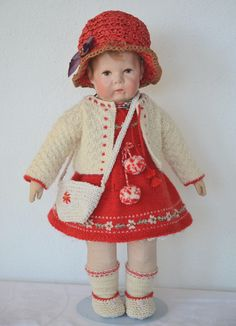 Crochet Doll Clothes, Knitted Dolls, Felt Dolls, Realistic Baby Dolls, Country Quilts, Hello Dolly, Antique Toys, Vintage Dolls, Nostalgia