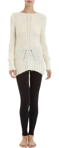 lovely modern lines in this simple pointelle sweater