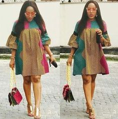 Howdy ladies, these are latest ankara dress styles you haven't rock. This is an opportunity for you to rock the kind of ankara styles African Fashion Ankara, Latest African Fashion Dresses, African Print Fashion, African Attire, African Wear, African Women, Ankara Short Gown Styles, Short Gowns, Ankara Gowns