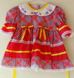 vestido festa junina - bebê sem marca