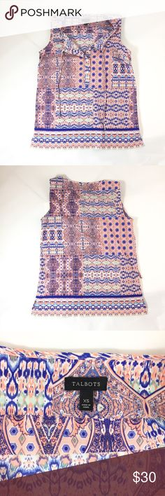 Selling this Talbots print sleeveless top on Poshmark! My username is: alightbright. #shopmycloset #poshmark #fashion #shopping #style #forsale #Talbots #Tops
