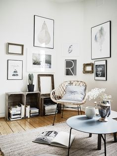 A small space in Gothenburg in neutrals. Stadshem.