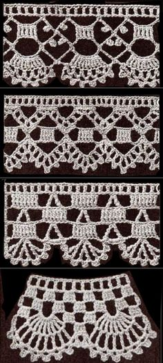 Single Crochet Stitch - Beginner Course: Lesson Learn how to single crochet stitch. The single crochet (sc) is the most common stitch used. Crochet Boarders, Crochet Edging Patterns, Crochet Lace Edging, Crochet Squares, Crochet Designs, Crochet Doilies, Filet Crochet, Pull Crochet, Crochet Diy
