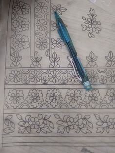 Discover thousands of images about Mix border Peacock Embroidery Designs, Border Embroidery Designs, Bead Embroidery Patterns, Embroidery Suits Design, Embroidery Thread, Quilting Designs, Textile Pattern Design, Textile Patterns, Textiles