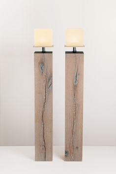 Sonstige 2-er Set Windlichter Beton Glas Tischleuchten Kerzenleuchte Handarbeit Can Be Repeatedly Remolded. Dekoration