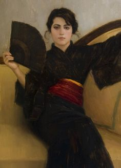 Aaron Westerberg's 'Black Kimono' (oil, 26 by 20 inches) is part of the group Realism show at Group Realism Show  at Gardner Colby Gallery, 386 Broad Avenue South, through March 26.