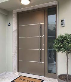 Modern Entrance Door, Main Entrance Door Design, Modern Exterior Doors, Home Entrance Decor, Modern Front Door, Front Door Entrance, House Front Door, Front Door Design, Front Entrances