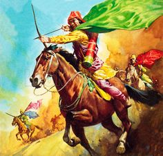 Parthian warrior at the battle of Carrhae in 53 BC, a disastrous defeat for…