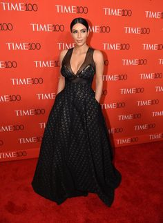 Kim Kardashian. See all the celebs who attended the Time 100 gala.