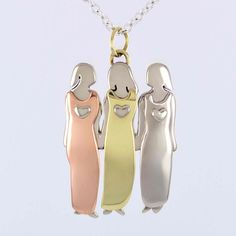 f09de723f061 Three Sisters Necklace Far Fetched Mima   Oly. Bff NecklacesBest Friend ...