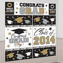 Graduation PURPLE Grad Mega Value 30 pcs CUTOUTS Party Supply 5-5D