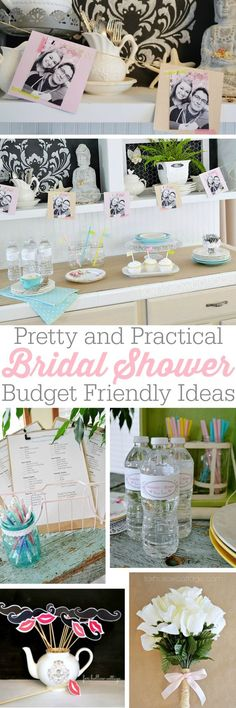 Budget Bridal Shower - party ideas -- pinning to show my mother in law when she starts her shower planning