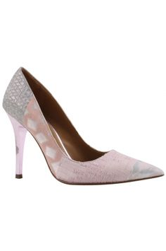 AINSLY - Pastel Multi from REMAC. The pink pearled nappa heel adds a luxury feel and style. This silhouette is beautiful and modern day to evening. $295
