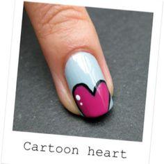 Valentines day theme nail art