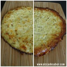 Pizza base made of cauliflower. Have to taste it Veggie Recipes, Vegetarian Recipes, Healthy Recipes, Gluten Free Baking, Vegan Gluten Free, Paleo, Pizza Sin Gluten, Sem Lactose, Sans Gluten
