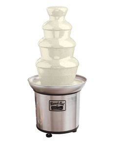 """This is not a drill: Hidden Valley is now selling the ranch fountain of your dreams. Described as """"the ultimate dip dispensing party companion,"""" the Chocolate Fountain Recipes, Chocolate Fountains, Geek Wedding, Wedding Tips, Wedding Reception, Cool Kitchen Gadgets, Cool Kitchens, Hidden Valley Ranch Dressing, Fountains For Sale"""
