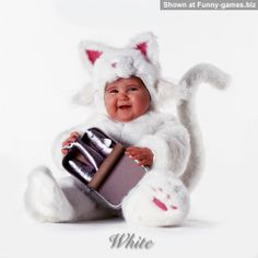 Cat Baby - Infant cutie in a pussy costume funny baby pics