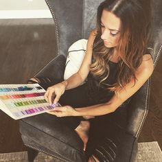 Super excited to be working with this pretty (and beyond talented) lady Jana Kramer on the bridesmaid dresses for her wedding!