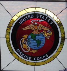 stained glass marine corp logo | STAINED GLASS MARINE LOGO