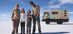 La Famille DaCaLuF au Grand lac salé , près de Salt Lake City
