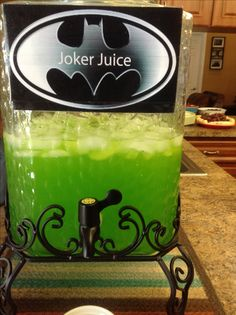 Batman party- joker slime, joker juice #PottyLikeaRockStar More