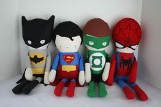 Made to order Batman doll. Made from cotton fabric and muslin. His mask is made from a wool felt blend. Stoff Design, Fabric Toys, Sewing Dolls, Doll Maker, Waldorf Dolls, Boy Doll, Soft Dolls, Diy Toys, Crochet Dolls