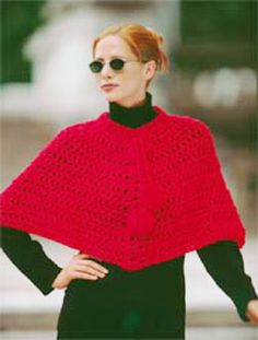 Easy Crocheted Poncho--instructions for cropped and long version.  Would be simple to adapt to lots of design variations.  Free pattern.