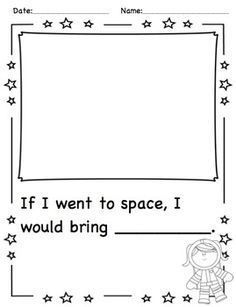 Space-themed literacy and math activities - science elementary Space Preschool, Preschool Themes, Classroom Activities, Science Classroom, Classroom Ideas, Science Experience, Space Theme Classroom, Space Solar System, Outer Space Theme