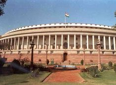 In Lok Sabha, they protested against the way Kulbhushan Jadhav's family was treated in Pakistan. In Rajya Sabha, Opposition began protesting against Anant Hegde's comments about the Constitution Parliament Of India, Houses Of Parliament, Election News, Current Affairs Quiz, Indian Constitution, Government Jobs, Indian Government, New Delhi, Federal
