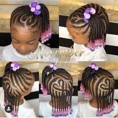 Kids Cornrow Hairstyles, Black Kids Braids Hairstyles, Little Girls Natural Hairstyles, Toddler Braided Hairstyles, Toddler Braids, Lil Girl Hairstyles, Braids For Black Hair, African Girls Hairstyles, Children Hairstyles