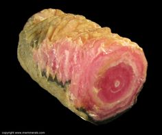 Rhodochrosite stalactite from Capillitas Mine, Argentina.   This one is for you, Kim P. :)