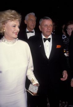 Barbara Sinatra and Frank Sinatra during Sinatra Golf Invitational Gala February 29 1992 at Marriott Hotel in Palm Springs California United States