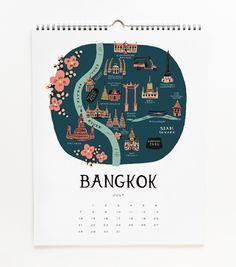 2013 Cities Calendar. Bangkok