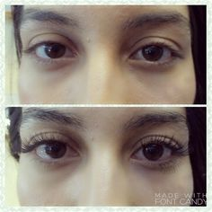 Before & after classic lash extensions done by me.