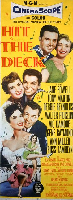 Hit the Deck,Jane Powell,Vic Damone,Debbie Reynolds,Russ Tamblyn,Ann Miller,Tony Martin