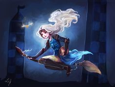 If Luna was a Quidditch player! This is my contribution for the Chara Design Challenge of this month (the theme is Harry Potter, I just can't ignored it! x)) I love this character, and ...