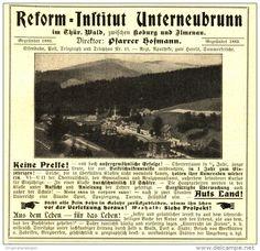 Original-Werbung / Anzeige 1907 - REFORM - INSTITUT UNTERNEUBRUNN - ca. 115  x 110 mm