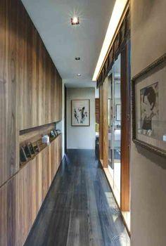 couloir en bois de déco feng shui