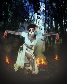 'Beauty Voodoo Witch' by Sweetlylou on deviantART #voodoo #art